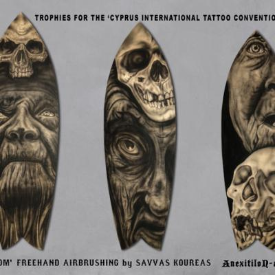 3 Trophies International Tattoo Convention By Anexitilon