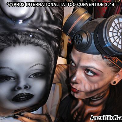 Anexitilon Kustom Airbrushing Cyprus International Tattoo Convention