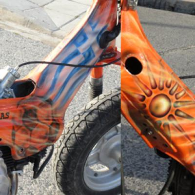 Apoel Au 79 By Savvas Koureas 04 2012 Airbrushing On Honda Chaly