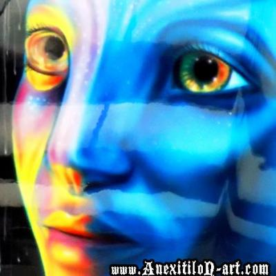 Avatar Fantasy Airbrush Art By