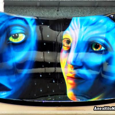 Avatar Hyperrealistic Airbrushing By Savvas Koureas