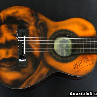 Bb King Airbrushed Guitar By Savvas Koureas 3 2013 Blues Nicosia