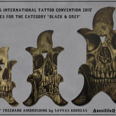 Black And Grey Trophies Cyprus International Tattoo Convention Ii By Anexitilon