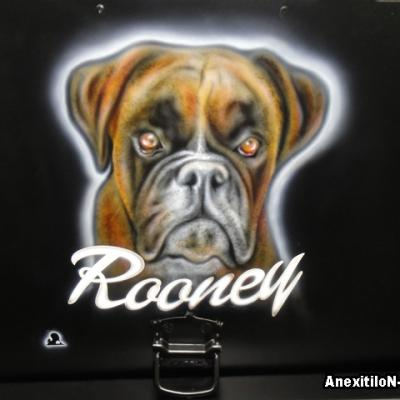 Boxer Dog By Savvas Koureas Hunting Trailer Airbrushing