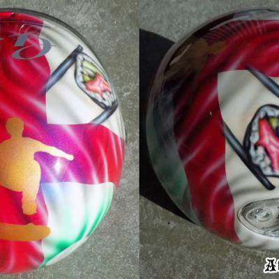 British Theme Airbrush Art Helmet By Anexitilon