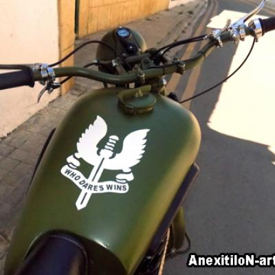 Bsa 1939 Tank Airbrushing In Old Nicosia By Anexitilon