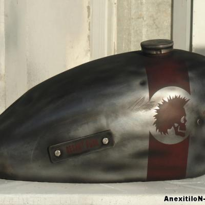 Cafe Racer Rat Bike By S. Koureas Www.anexitilon Art.com Nicosia Airbrushing