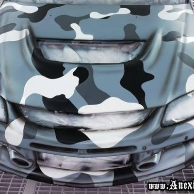 Camo Painting On Racing Car By Anexitilon