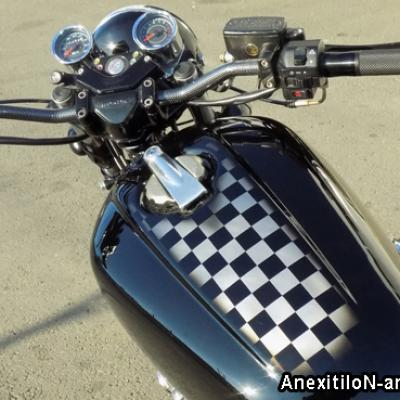 Checkered Flag On Honda Cb 750 Airbrushing By Savvas Koureas Anexitilon