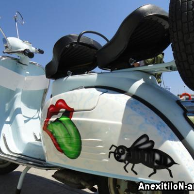 Custom Painted Fenders Vespa Lambretta Club Of Nicosia