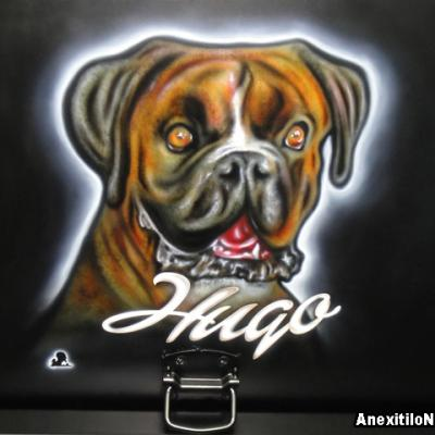 Dog Portrait Airbrushing By Savvas Koureas