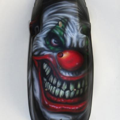 Evil Clown On Kawasaki Chopper Bike Fender By Savvas Koureas 5 2013 Concept Art Cyprus