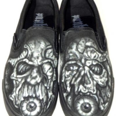 Evil Painted Vans By Savvas Koureas 12 2011 Airbrushing On Vans Shoes
