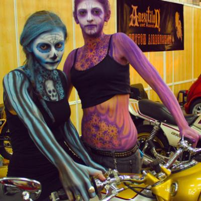 Full Body Promotional Airbrushing By Savvas Koureas Cyprus Bike Festival