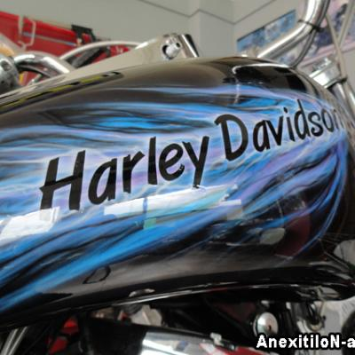 Harley Davidson Tank In Flames By Savvas Koureas 8 2012 Anexitilon Art Work Cy
