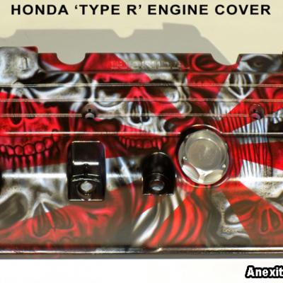 Honda Type R Engine Cover Custom Painting By Anexitilon