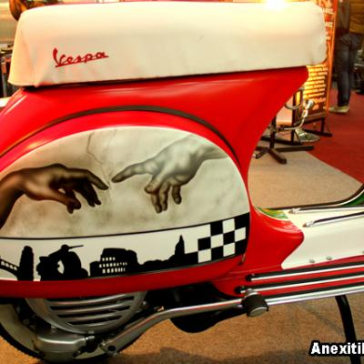 Italian Vespa Airbrushing By Savvas Koureas Classic Customization Cyprus
