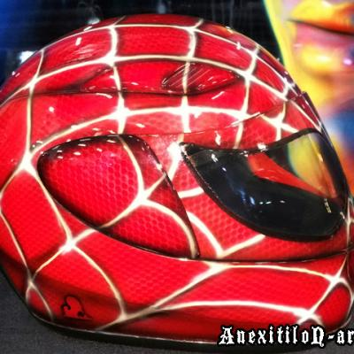 Kustom Realistic Cartoon Spiderman Prop Helmet By Anexitilon Savvas Koureas