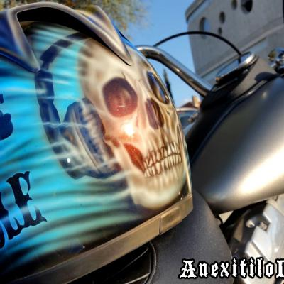Life Is A Gamble Helmet Airbrush Art By Anexitilon