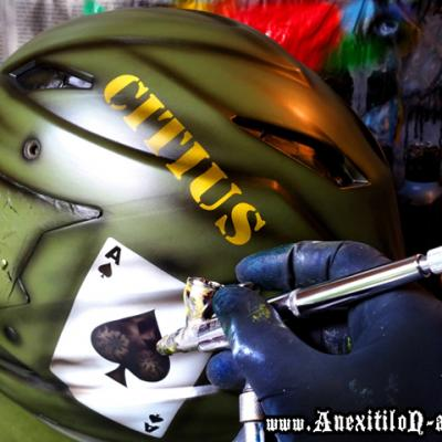 Military Enduro Mtb Bike Airbrushing By Anexitilon