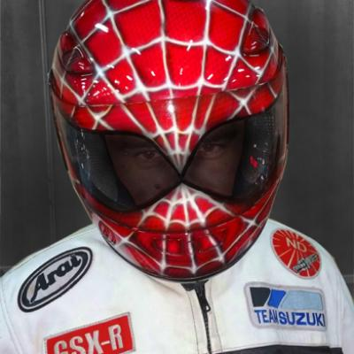 Motorcyclists Full Face Spiderman Hemmet By Anexitilon Savvas Koureas
