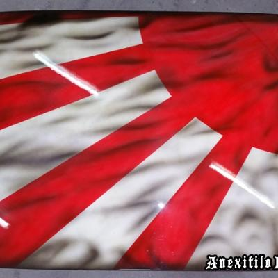Old Japanese Flag Car Roof Airbrush Art By Anexitilon