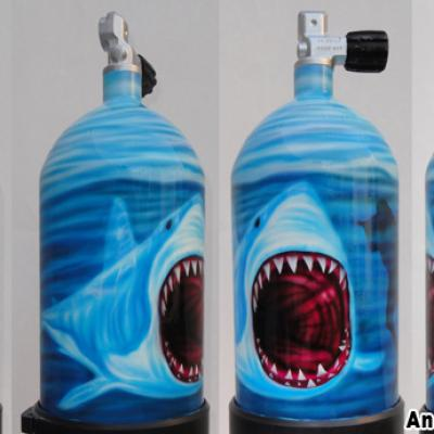Scuba Diving Tank By Savvas Koureas 6 2014 Protaras Ayia Napa Airbrushing