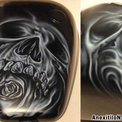 Skullrose By Savvas Koureas 7 2014 Rock Airbrushing