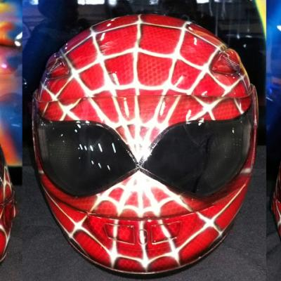 Spiderman Airbrushed Helmet By Anexitilon Savvas Koureas