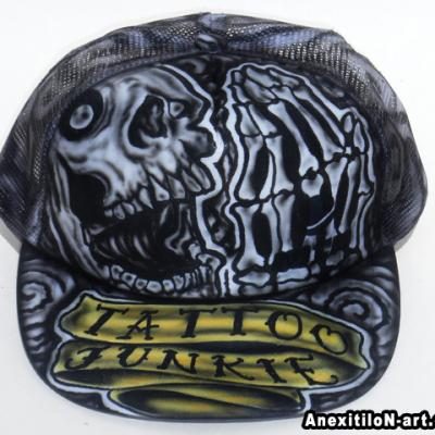 Tattoo Junkie Horror Airbrushed Cap