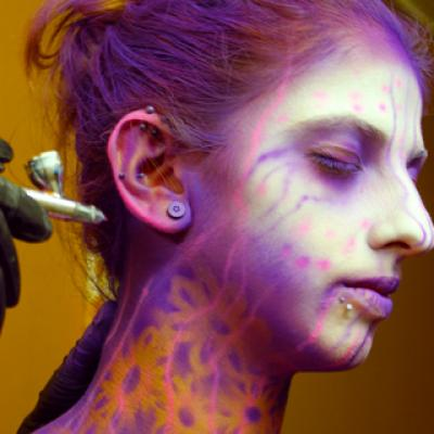 Theatrical Body Airbrushing By Savvas Koureas