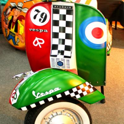 Traditional Vespa Piaggio Airbrushing By Savvas Koureas Retro Customization Nicosia