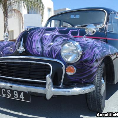 Tribal Flames Street Rod Custom Morris Minor Car Nicosia Cyprus Iwata Medea
