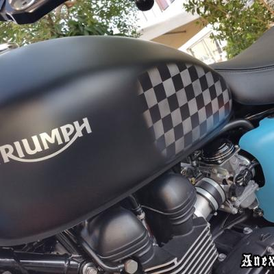 Triumph Kustom Airbrushed Project By Anexitilon