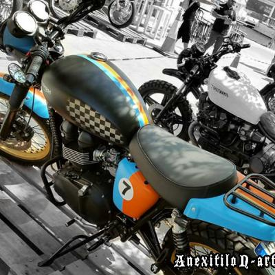 Triumph New School Custom Bike By Anexitilon