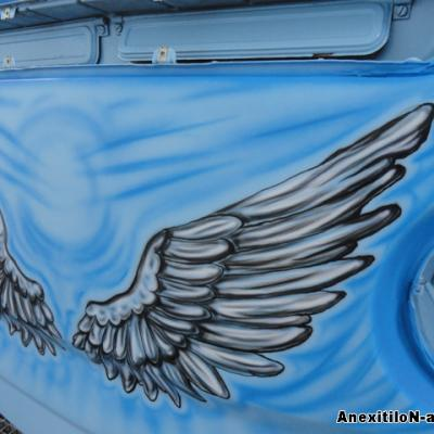 Vw Van Wings Airbrushing By S. Koureas Www.anexitilon Art.com Vw Club Cyprus