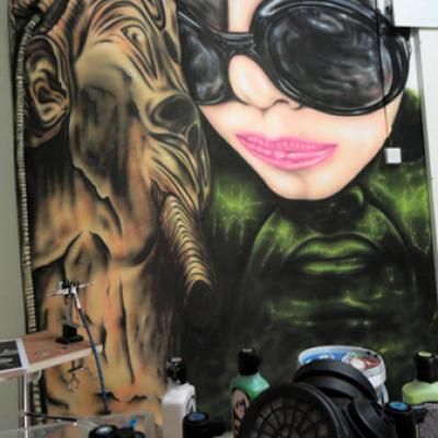 Wallpainting Airbrush Process In Nicosia