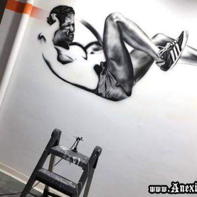 Art Mural Wallpainting Making Process By