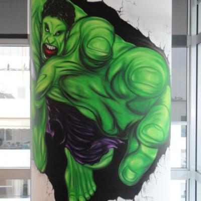Hulk Mural Airbrushing By S. Koureas Www.anexitilon Art.com All Over Cyprus