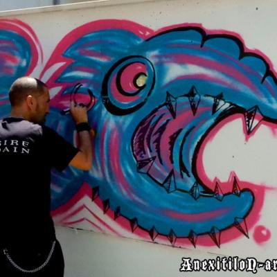 Speed Painting Graffiti In Austria Klagenfurt By Anexitilon