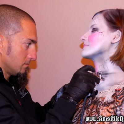 Airbrushing For A Theatrical Photo Shooting 2