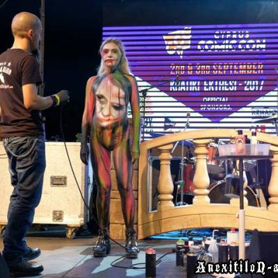 Cyprus Comiccon Body Painting Show Body Art By Anexitilon