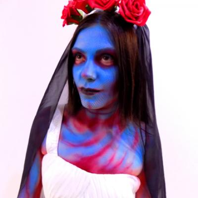 Dying Bride Face Body Painting By Anexitilon