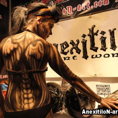 Full Body Airbrushing By Anexitilon