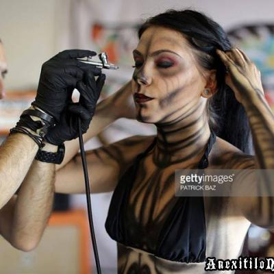 Live Body Airbrushing At Getty Images Body Art By Anexitilon