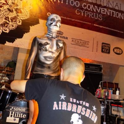 Live Stage Performance At Tattoo Convention Limassol