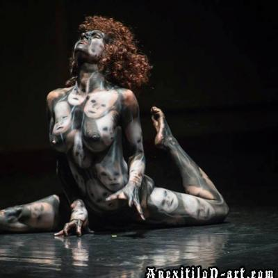 Unlimited Grief Body Painting Performance Body Art By Anexitilon