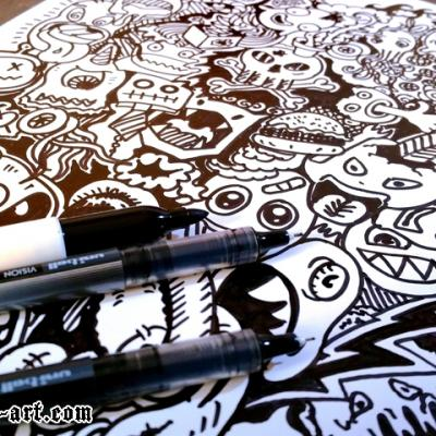 Doodle Drawing Art By Anexitilon For The Sacred Tooth Brand