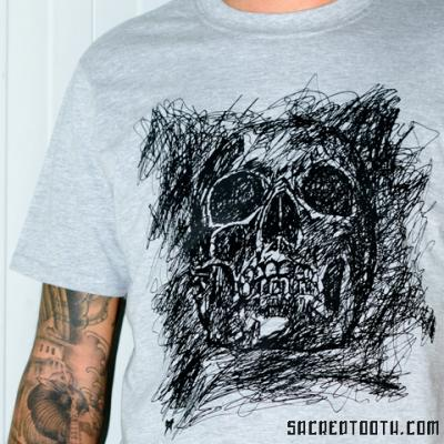 Doodle Skull Tshirt Art By Anexitilon For The Sacred Tooth Brand
