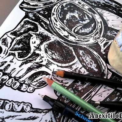 Drawing The Kamikazi Art By Anexitilon For The Sacred Tooth Brand